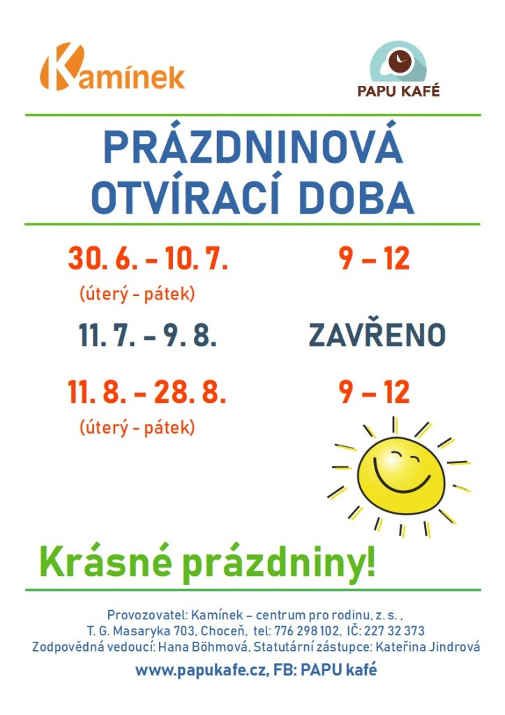 OTVÍRAČKA_KAVÁRNA_prazdniny
